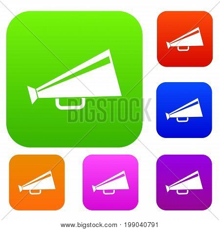 Mouthpiece set icon in different colors isolated vector illustration. Premium collection