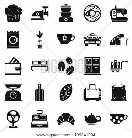 Kitchen utensil icons set. Simple set of 25 kitchen utensil vector icons for web isolated on white background