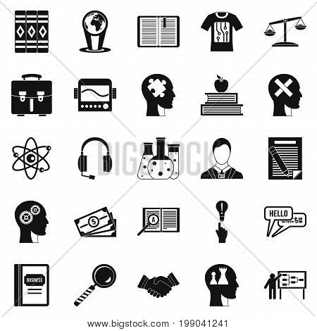 Scholarship icons set. Simple set of 25 scholarship vector icons for web isolated on white background