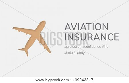 Illustration of aviation life insurance traveling trip
