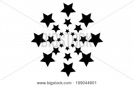 Black star on white background collection stock vector art