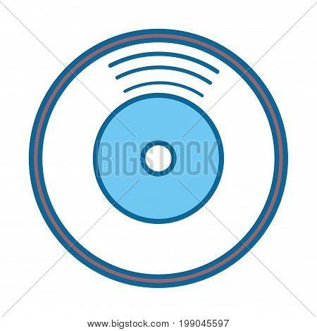 vinyl icon over white background vector illustration