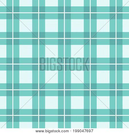Green Tartan Plaid Pattern Design. Vector image.