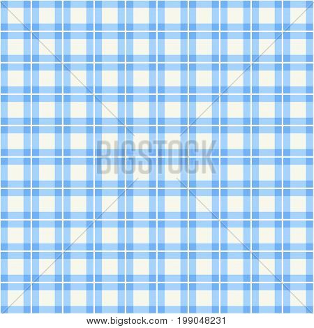Blue background of plaid pattern. Vector image.
