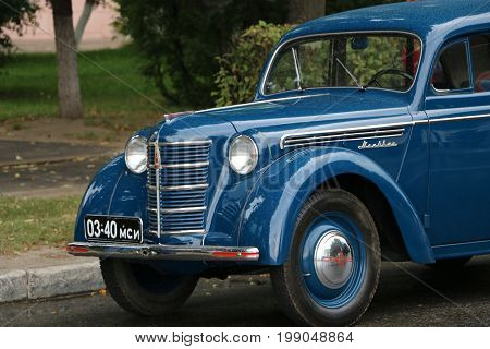 Yoshkar-ola, Russia, August 5, 2017: Exhibition Of Old Cars On The Square - Rare Soviet Car Of The M