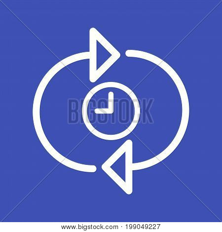 Time, logo, optimization icon vector image. Can also be used for IT Services. Suitable for use on web apps, mobile apps and print media.