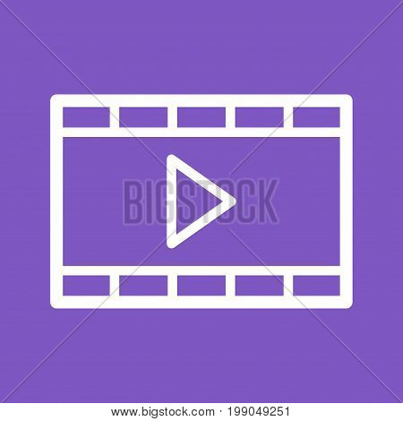 Video, player, animation icon vector image. Can also be used for IT Services. Suitable for mobile apps, web apps and print media.