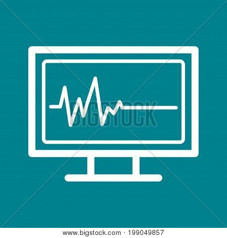 Life, death, ecg icon vector image.Can also be used for funeral. Suitable for mobile apps, web apps and print media.