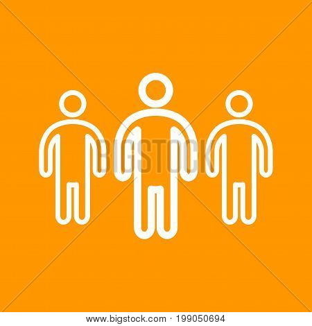 Leadership, team, business icon vector image. Can also be used for soft skills. Suitable for mobile apps, web apps and print media.