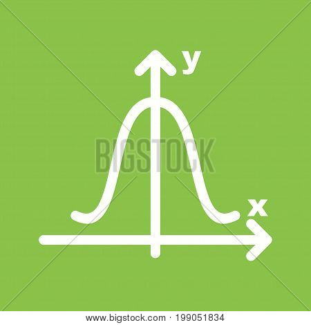 Curve, chart, bell icon vector image. Can also be used for Math Symbols . Suitable for use on web apps, mobile apps and print media.