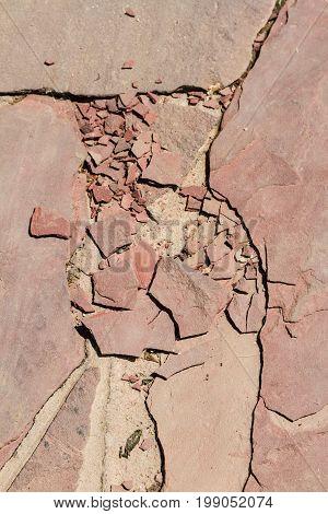Crumbled Stone Slab