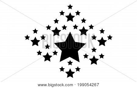 Collection stock black star style vector illustration