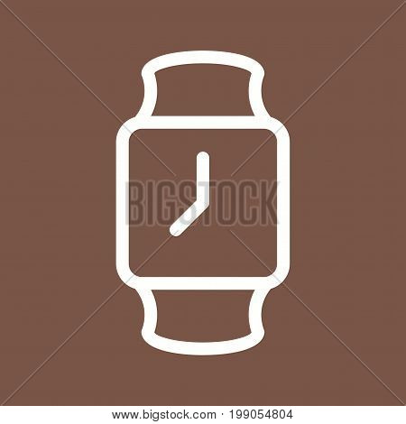 Stylish, watch, smart icon vector image. Can also be used for Mens Accessories. Suitable for use on mobile apps, web apps and print media.