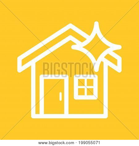 Dust, clean, house icon vector image. Can also be used for Cleaning Services. Suitable for mobile apps, web apps and print media.
