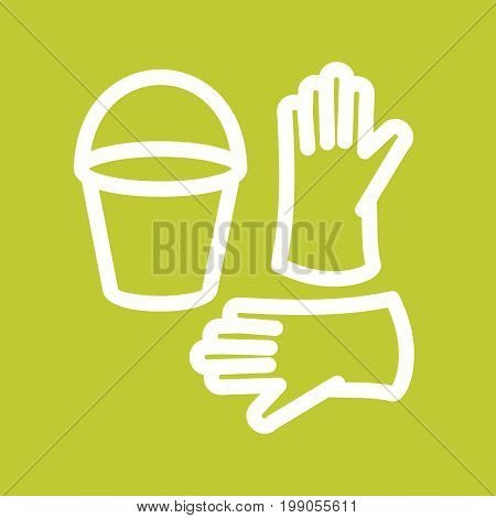 Water, cleaning, bucket icon vector image. Can also be used for Cleaning Services. Suitable for use on web apps, mobile apps and print media.