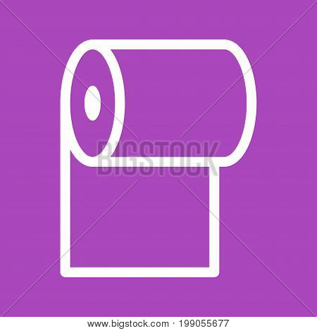 Paper, toilet, roll icon vector image. Can also be used for Cleaning Services. Suitable for use on web apps, mobile apps and print media.