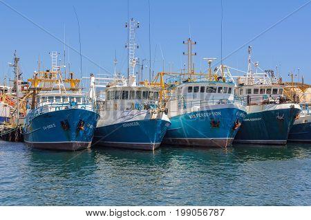 Fishing boats in the harbour - Fremantle, WA, Australia, 9 January 2013