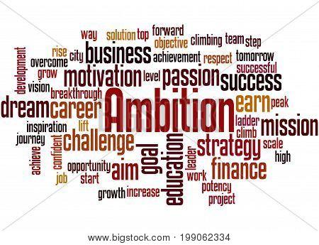 Ambition, Word Cloud Concept