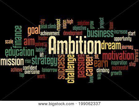 Ambition, Word Cloud Concept 2