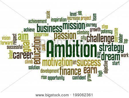 Ambition, Word Cloud Concept 5