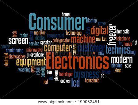 Consumer Electronics, Word Cloud Concept