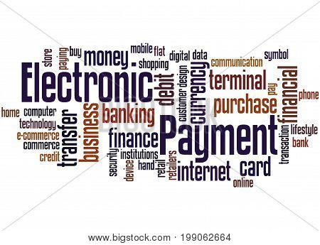 Electronic Payment, Word Cloud Concept