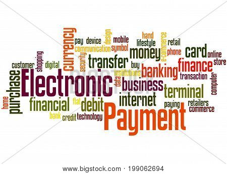 Electronic Payment, Word Cloud Concept 4