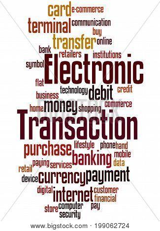 Electronic Transaction, Word Cloud Concept