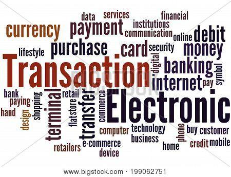Electronic Transaction, Word Cloud Concept 5