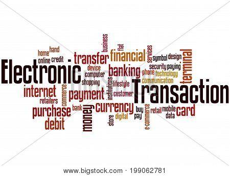 Electronic Transaction, Word Cloud Concept 7