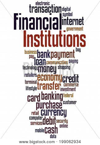 Financial Institutions, Word Cloud Concept 2