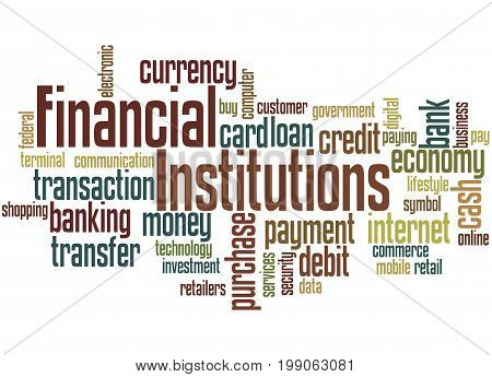 Financial Institutions, Word Cloud Concept 5