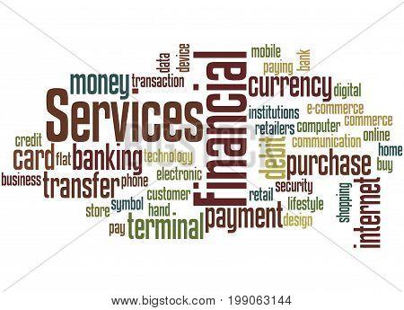 Financial Services, Word Cloud Concept 5