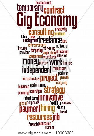 Gig Economy, Word Cloud Concept 2