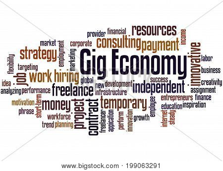 Gig Economy, Word Cloud Concept 5