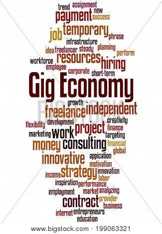 Gig Economy, Word Cloud Concept 7