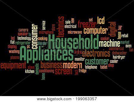 Household Appliances, Word Cloud Concept 2