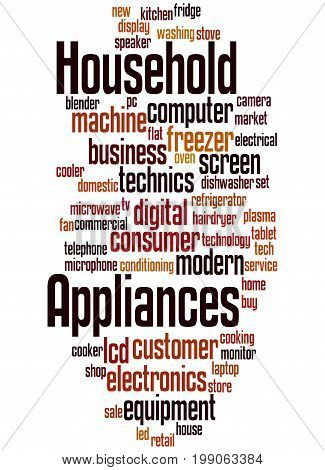 Household Appliances, Word Cloud Concept 5