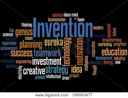 Invention, Word Cloud Concept 2
