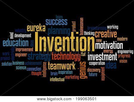 Invention, Word Cloud Concept 4