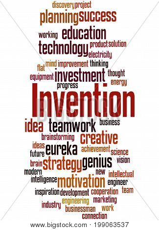 Invention, Word Cloud Concept 6