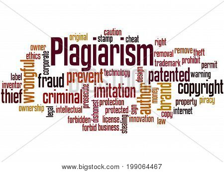 Plagiarism, Word Cloud Concept 2