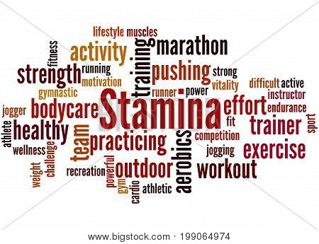 Stamina Is Staying Power Or Enduring Strength, Word Cloud 2