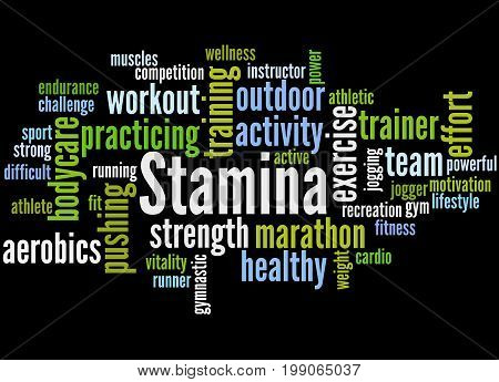 Stamina Is Staying Power Or Enduring Strength, Word Cloud 5