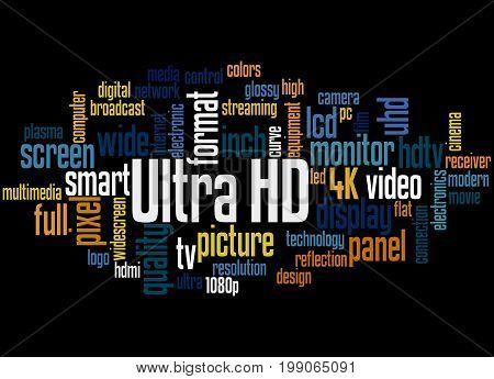 Ultra Hd, Word Cloud Concept 3