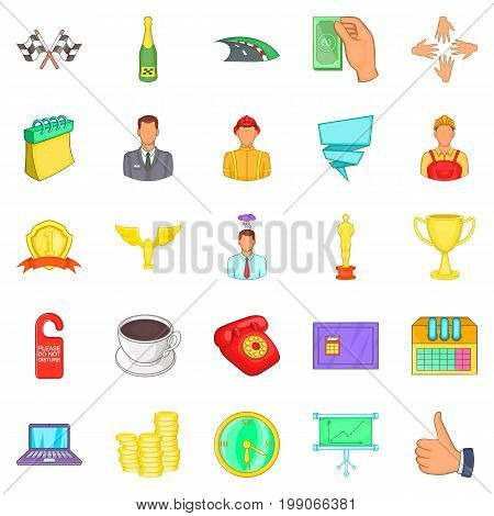 Governance icons set. Cartoon set of 25 governance vector icons for web isolated on white background