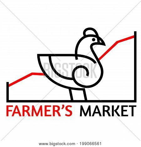 Chicken vector icon for web, mobile and infographics icon isolated on white background.