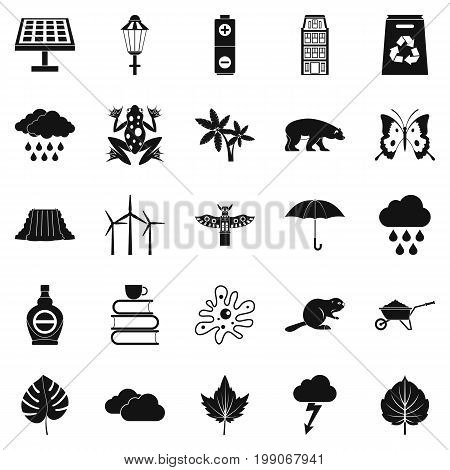 Foliage icons set. Simple set of 25 foliage vector icons for web isolated on white background
