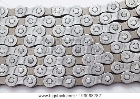 bicycle metal chain texture background close up