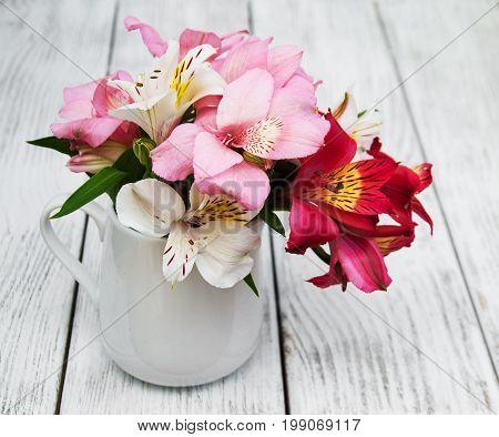 Beautiful Bouquet Of Pink Alstroemeria